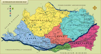 Kumbakonam Diocese Map